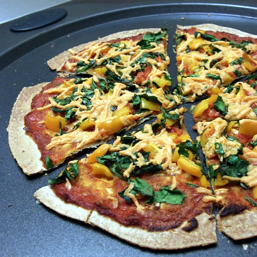 Tortilla Pizza Tortilla pizza
