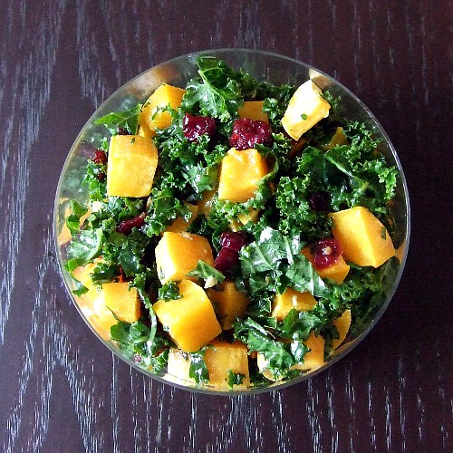 Kale Salad With Butternut Squash And Almonds Recipes — Dishmaps
