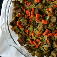 Gluten-free and Vegan Stuffing