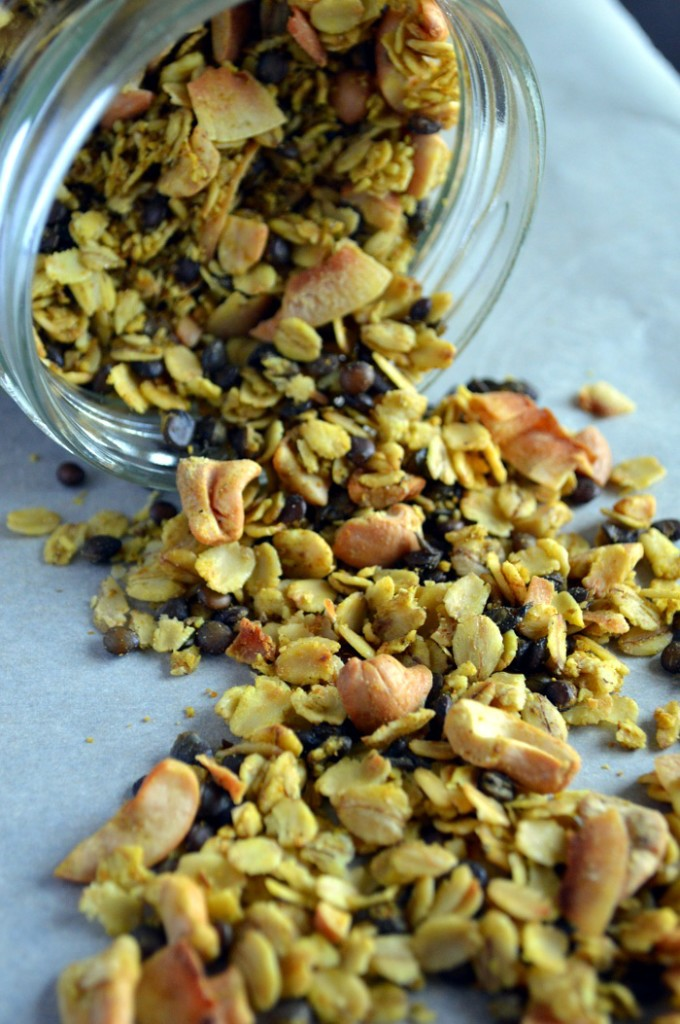 Curried Lentil and Oat Savory Granola