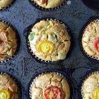 Gluten-Free Green Bean and Tomato Muffins