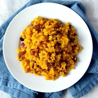 Turmeric Rice with Raisins