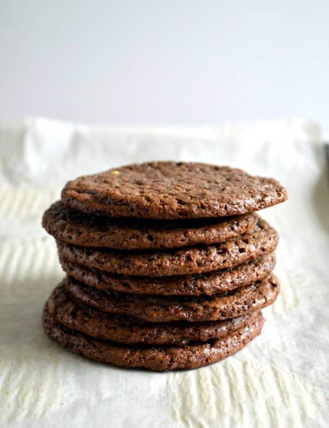 Salted Dark Chocolate 3 Ingredient Cookies